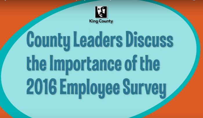 """grahic: """"County Leaders Discuss the Importance of the 2016 Empoyee Survey"""