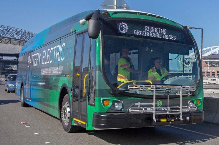 battery bus on street