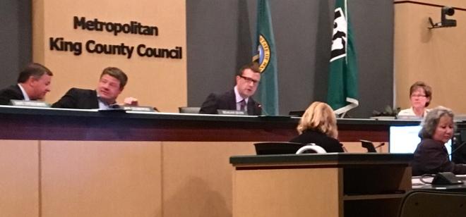 King County Council at dais
