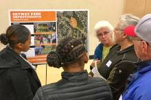 attendees at Skyway-West Hill subarea plan open house