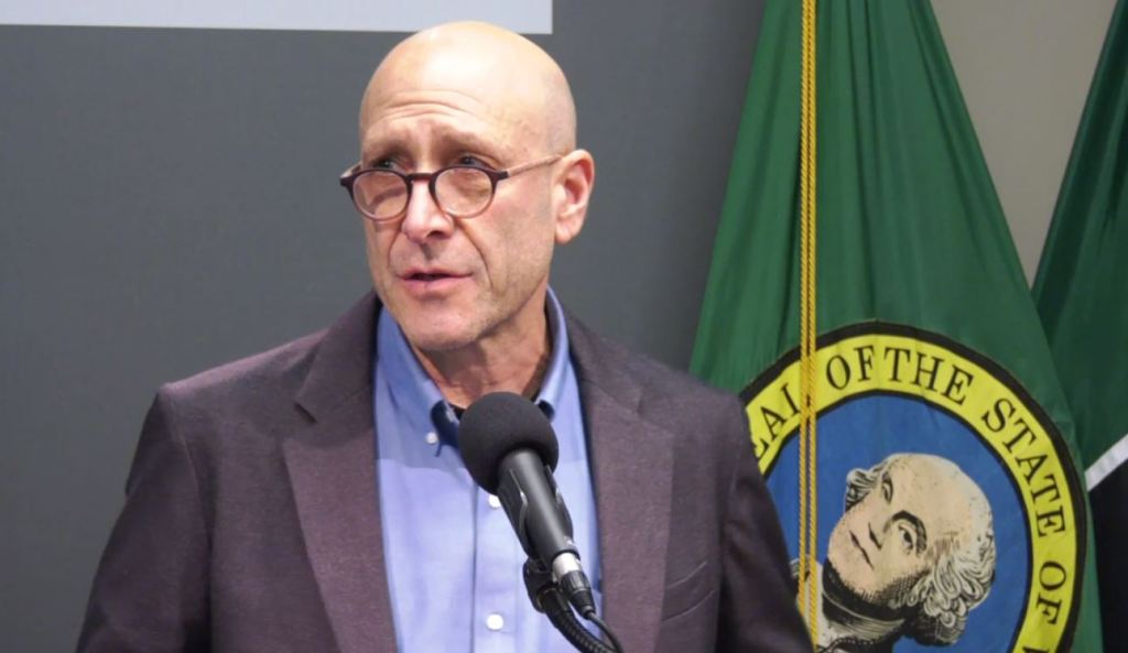 Dr. Jeff Duchin with Public Health - Seattle & King County speaks to reporters during a press conference on the latest news involving COVID-19, also known as the coronavirus, on March 4, 2020 in Seattle, Wash.